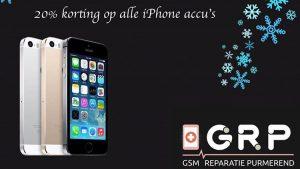20% korting op alle iPhone accu's